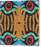 War Eagle Totem Mosaic Wood Print