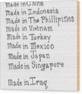 War Made For Big Business Wood Print