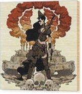 War Maiden Wood Print by Brian Kesinger