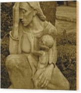 War Mother By Charles Umlauf Wood Print