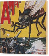 War Of The Worlds, 1927 Wood Print