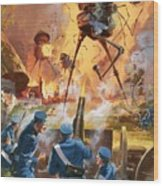 War Of The Worlds Wood Print by Barrie Linklater