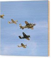 Warbirds Wood Print