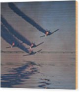Warbirds On Mission Wood Print