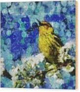 Warbler Of Spring Wood Print