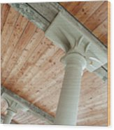 Warehouse Columns Wood Print