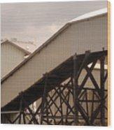 Warehouse Passage Wood Print