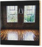 Warehouse View Wood Print