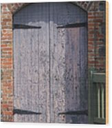Warehouse Wooden Door Wood Print by Thomas Marchessault