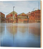 Warehouses Wood Print