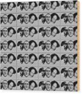 Warhol - Three Stooges Andy Warhol Wood Print