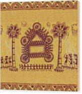 Warli Ceremony Wood Print