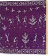 Warli Life Wood Print