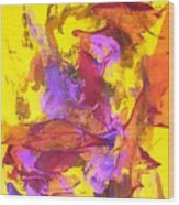 Warm Abstraction Wood Print