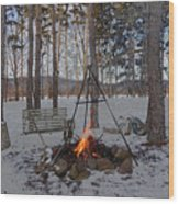 Warm Camp Fire Wood Print