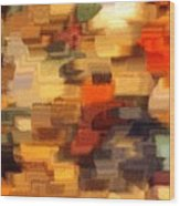Warm Colors Abstract Wood Print