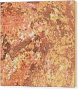 Warm Colors Natural Canvas 2 Wood Print
