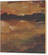 Warm Glow Triptych 3 Of 3 Wood Print