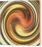 Warm Honey Swirl Wood Print