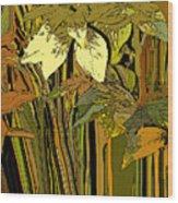 Warm Leaves Wood Print