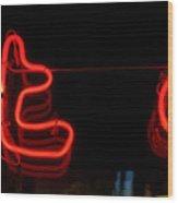 Warm Neon Wood Print