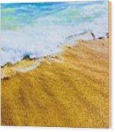 Warm Sand Wood Print
