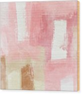 Warm Spring 2- Abstract Art By Linda Woods Wood Print
