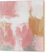 Warm Spring- Abstract Art By Linda Woods Wood Print