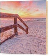 Warm Sunrise Wood Print