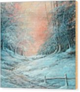 Warm Winter Fantasy Wood Print