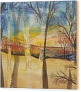 Warmth Waiting Beyond The Hill Wood Print