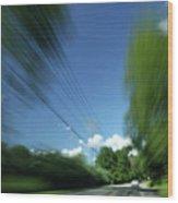 Warp Speed Wood Print