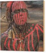 Warpath Shawnee Indian Wood Print by Randy Steele