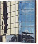Warped Harbour Bridge Reflection By Kaye Menner Wood Print