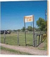 Warrenton Texas Antique Days Park Here Wood Print