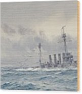 Warrior After The Battle Of Jutland Wood Print