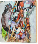 Warrior Dance Wood Print