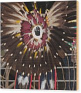 Warrior Feathers Wood Print