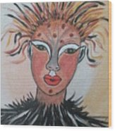 Warrior Woman  #3 Wood Print
