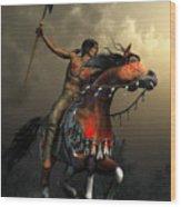 Warriors Of The Plains Wood Print