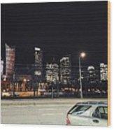 Warsaw At Night Wood Print