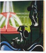 Warsaw Poland Vintage Travel Poster Restored Wood Print