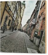 Warsaw, The Old Town Wood Print