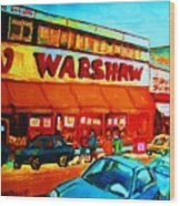 Warshaws Fruitstore On Main Street Wood Print
