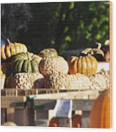 Wart Pumpkins Wood Print
