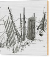 Was Once A Fence... Now Retired Wood Print