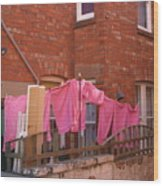 Wash Day Pinks Wood Print