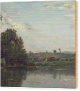 Washerwomen At The Oise River Near Valmondois Wood Print