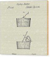 Washing Machine 1861 Patent Art Wood Print by Prior Art Design