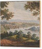 Washington And Georgetown From The Alexandria Road Wood Print